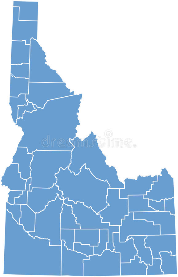 Idaho State map vector illustration