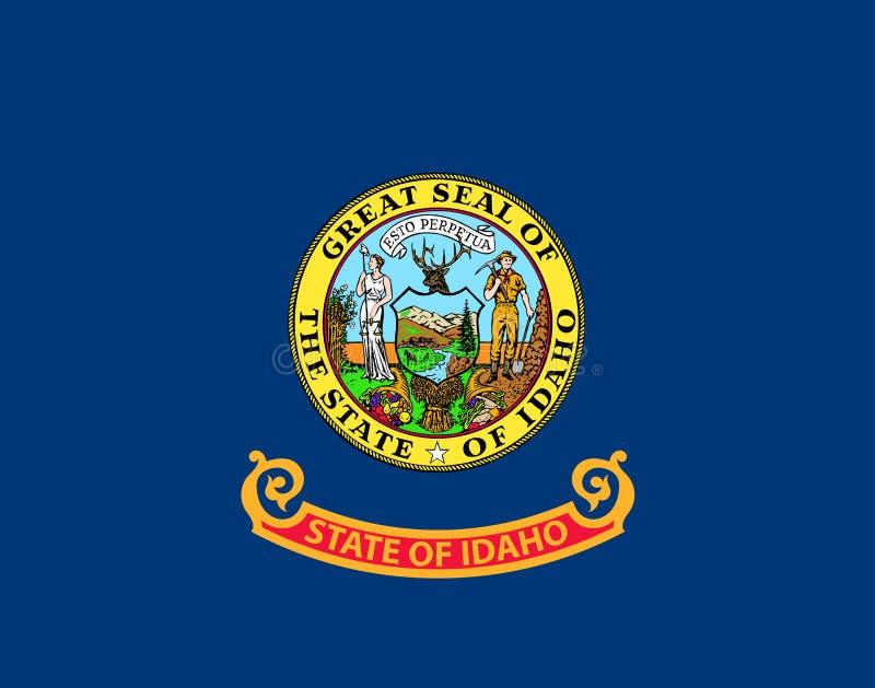 Idaho-Vektorflagge Auch im corel abgehobenen Betrag Staaten von Amerika lizenzfreie abbildung
