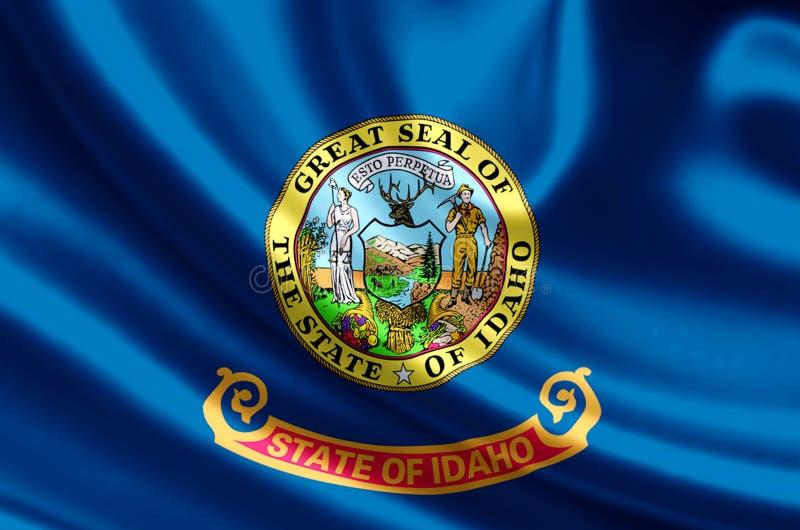Idaho flag illustration royalty free illustration