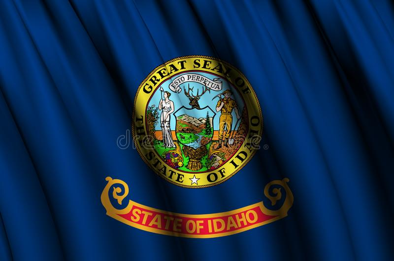 Idaho waving flag illustration. vector illustration