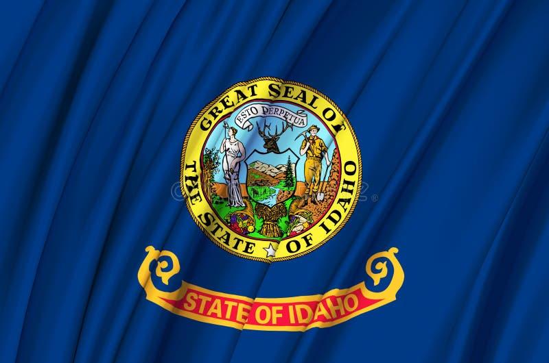 Idaho waving flag illustration. royalty free illustration