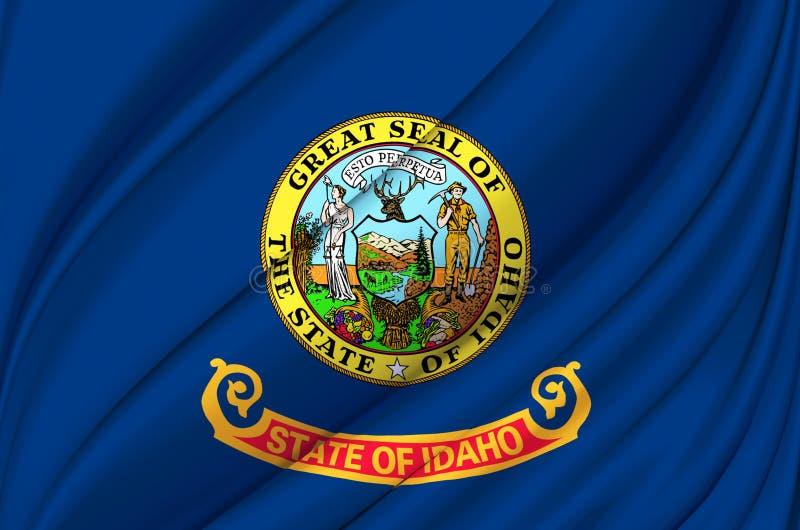 Idaho waving flag illustration. stock illustration