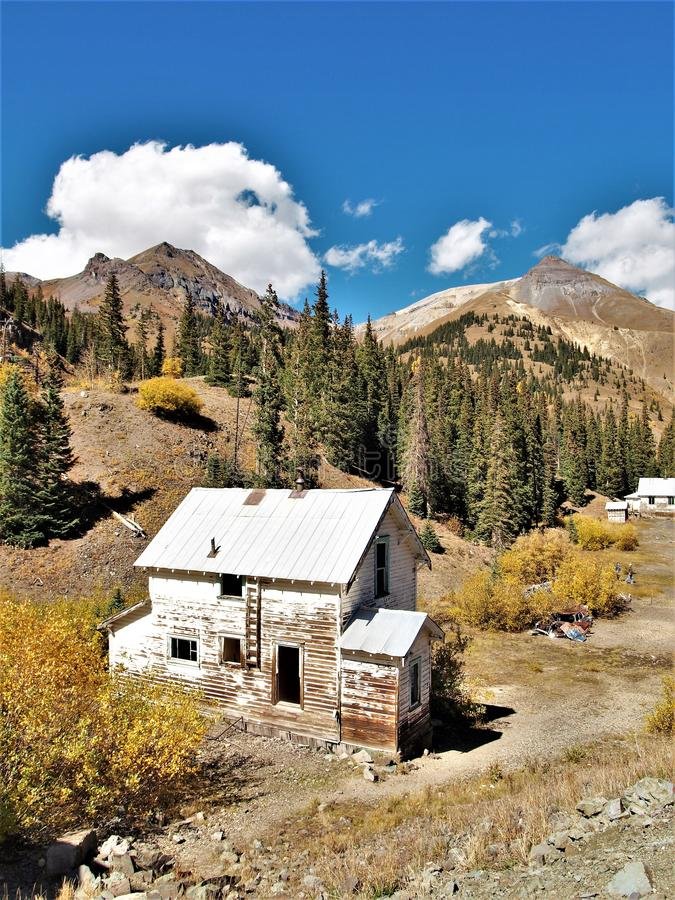 Idarado miasto widmo blisko Silverton, Kolorado fotografia stock