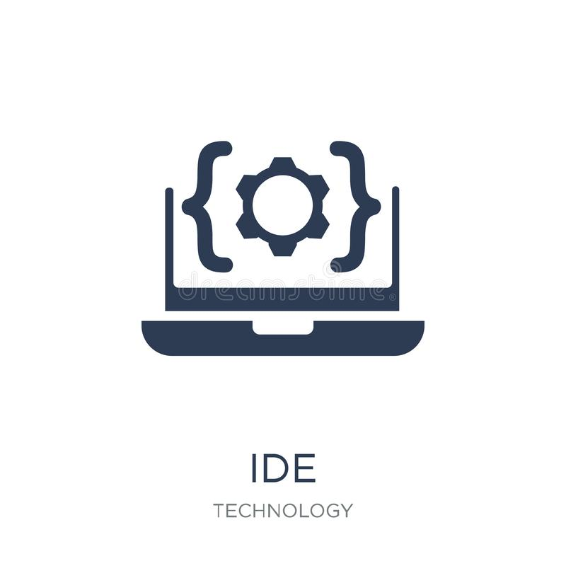 IDE icon. Trendy flat vector IDE icon on white background from T royalty free illustration