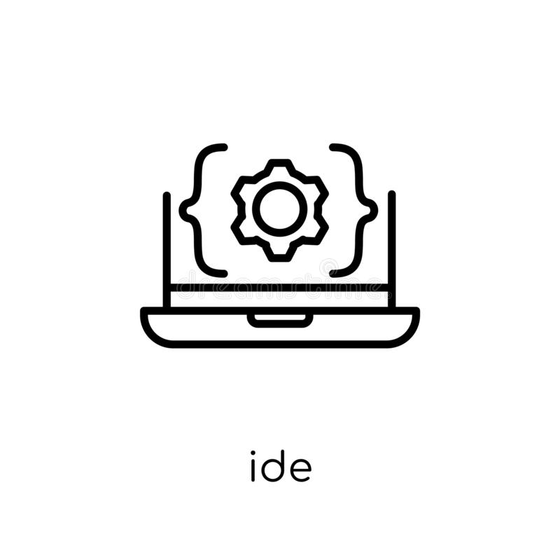 IDE icon. Trendy modern flat linear vector IDE icon on white background from thin line Technology collection vector illustration