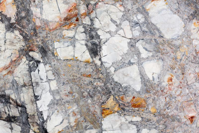 Ideał marmurowa tekstura w światła - szarych i pomarańczowych colours obrazy stock