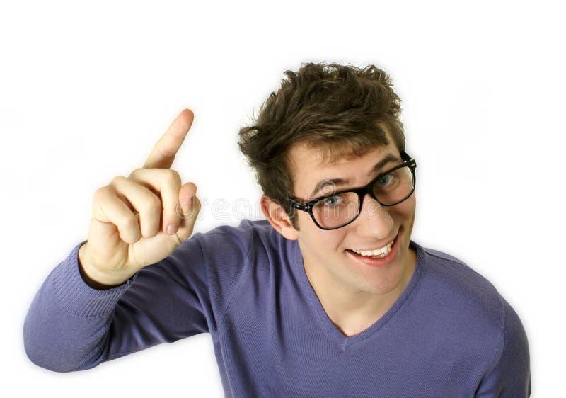Download Idea stock image. Image of emotion, finger, nerd, mature - 12500899