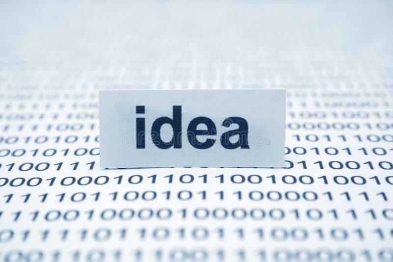 Idea. Text on binary data royalty free stock photos