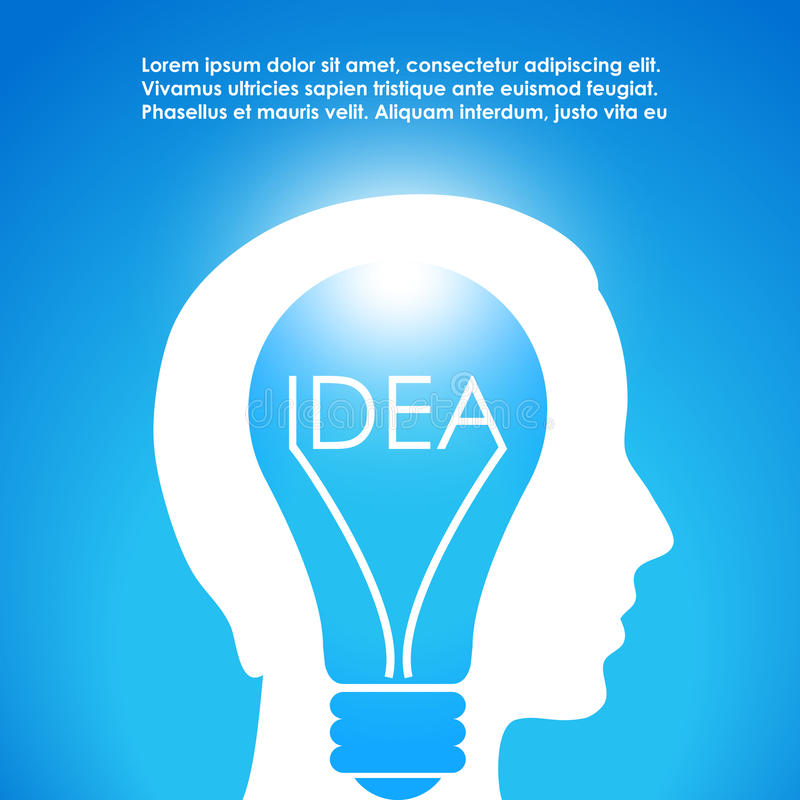Download Idea stock vector. Image of concept, bulb, blue, background - 27704923
