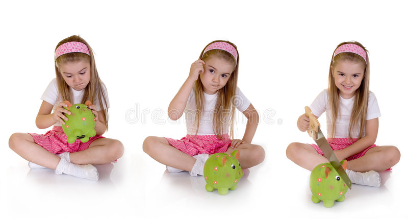 Idea. Another way to open piggy bank royalty free stock images