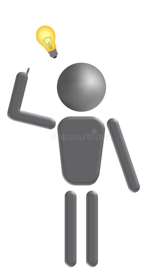 Idea. An illustration of a fellow who gets an idea stock illustration
