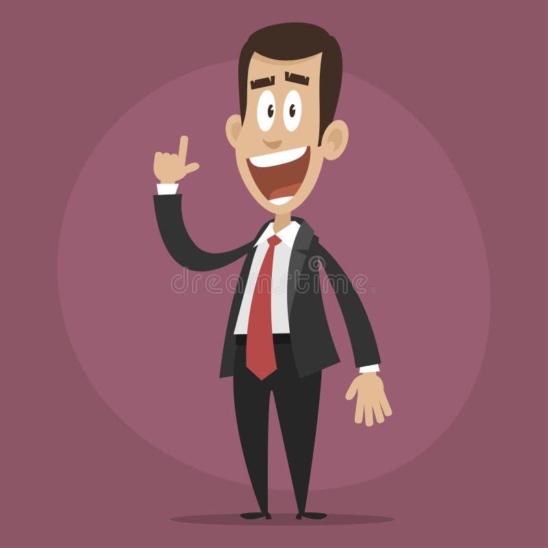 Idea acuñada hombre de negocios feliz libre illustration