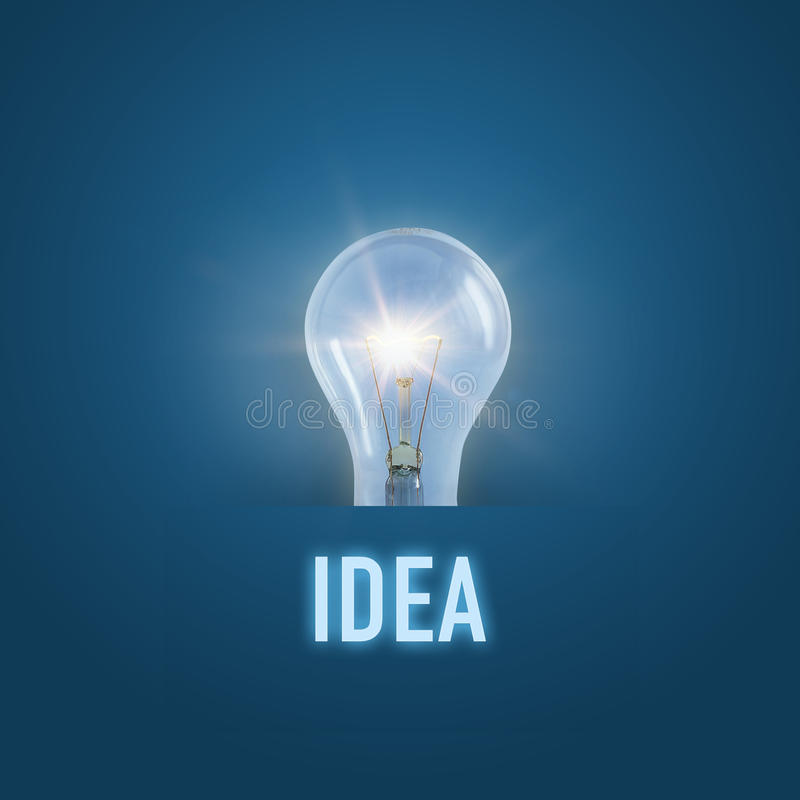Idea ardiente del concepto de la lámpara fotografía de archivo libre de regalías