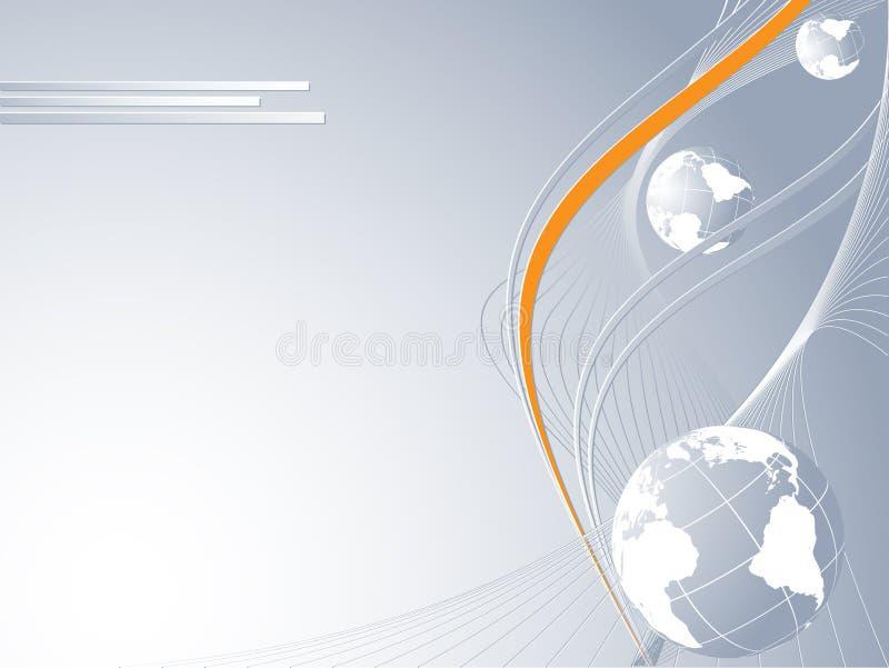 Idea astratta di concetto di collegamento globale royalty illustrazione gratis