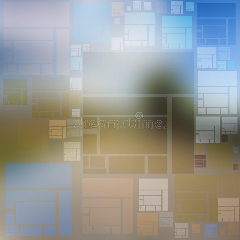 Idea background of multicolored squares and rectangles royalty free illustration