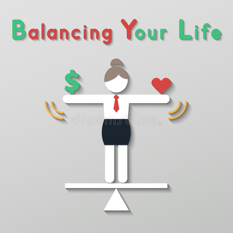 Idea balance your life business concept royalty free illustration