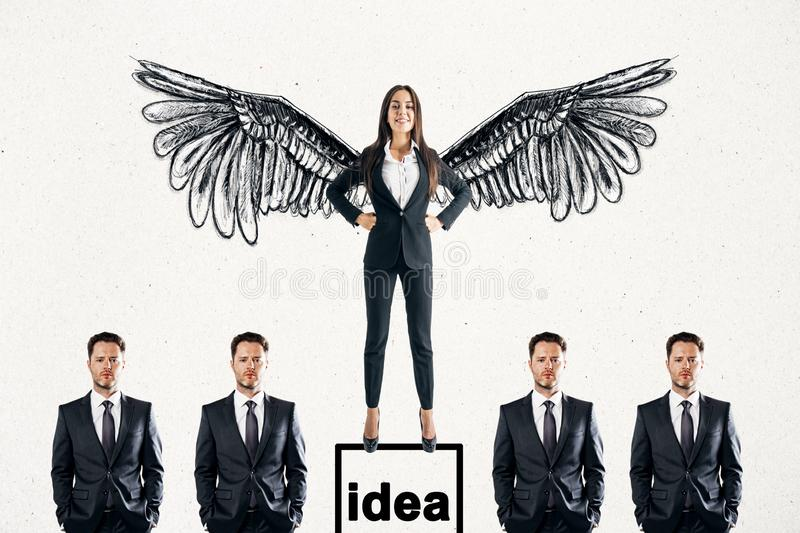 Idea and boss concept stock image
