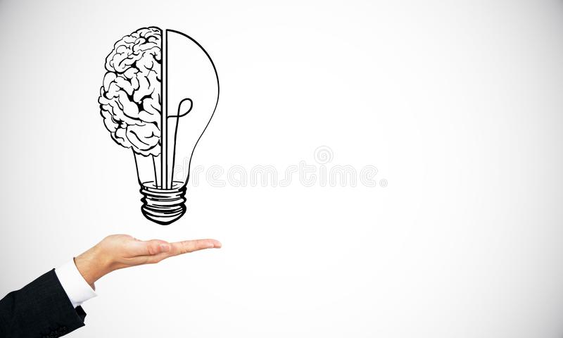 Idea and brainstorm backdrop royalty free illustration
