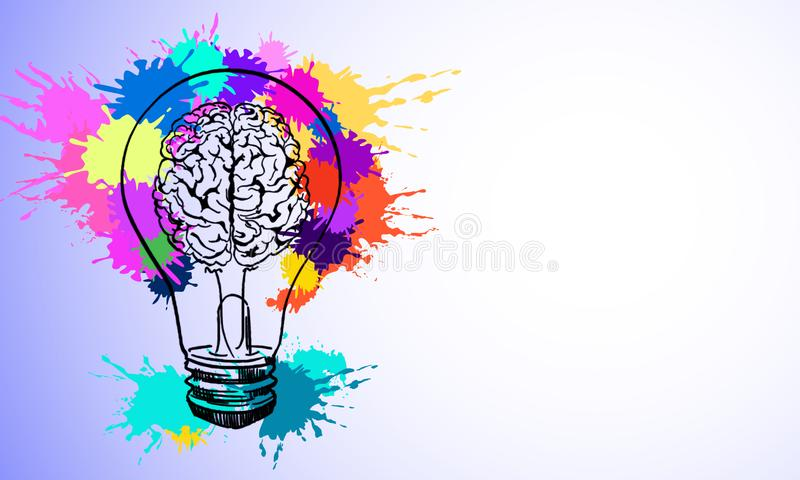 Idea and brainstorm concept royalty free illustration