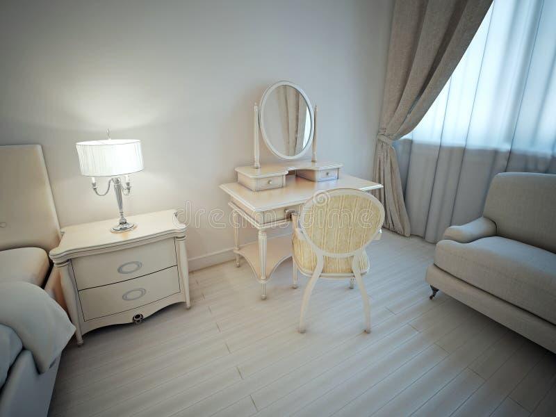 Idea brillante del dormitorio principal libre illustration