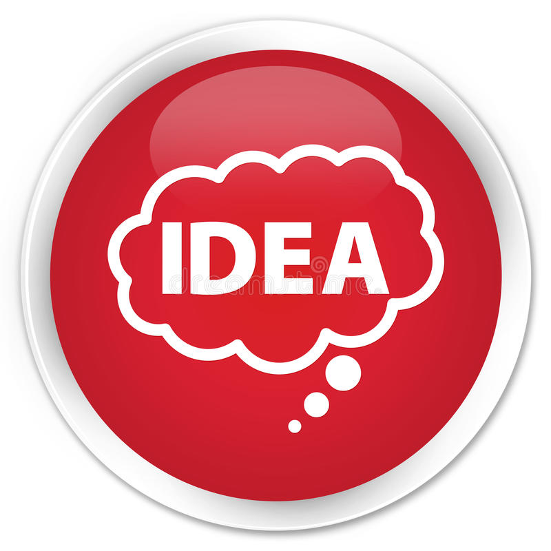 Idea bubble icon premium red round button royalty free illustration