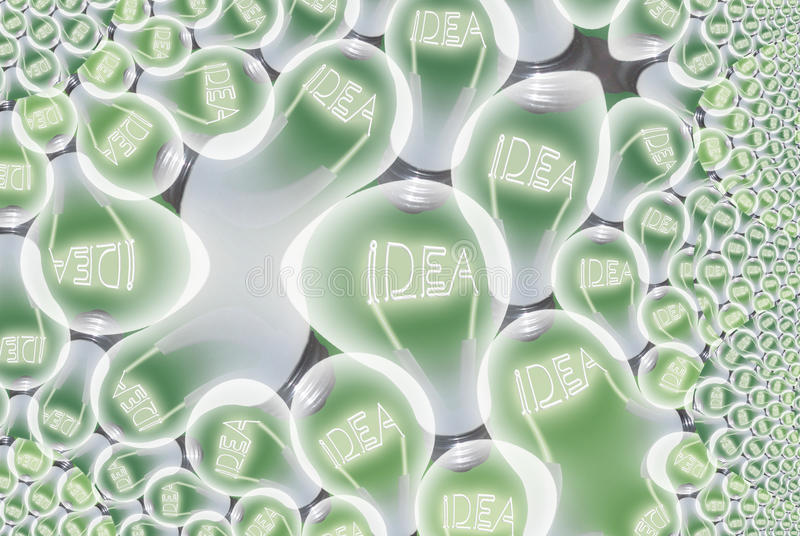 Download Idea Bulb Abstract stock illustration. Image of bright - 18129348