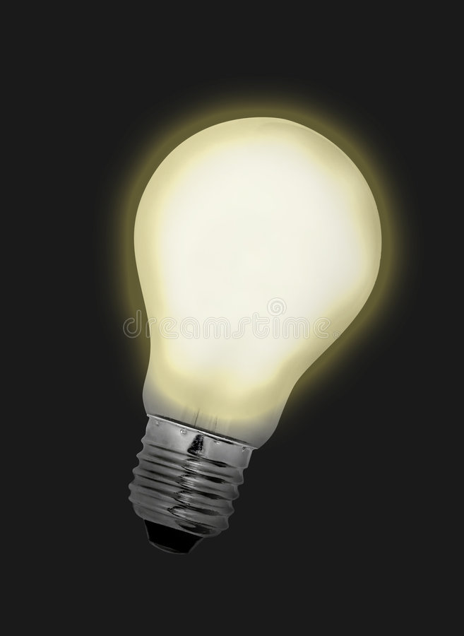 Download Idea Bulb Lights Up stock image. Image of watts, inspiration - 204747