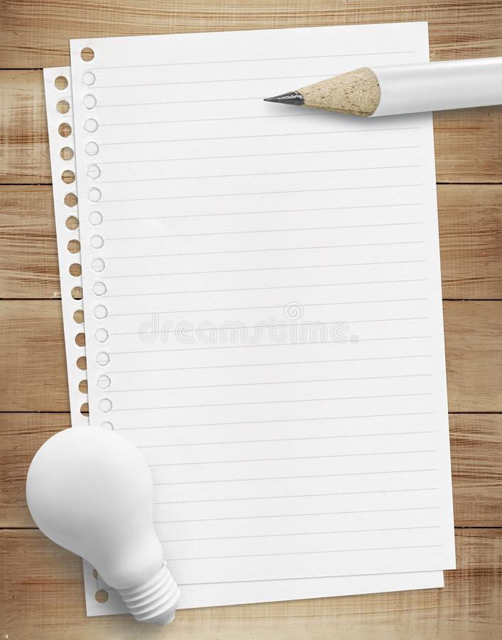 Idea 2018 checklist concepts with white paper sheet and pencil royalty free stock image