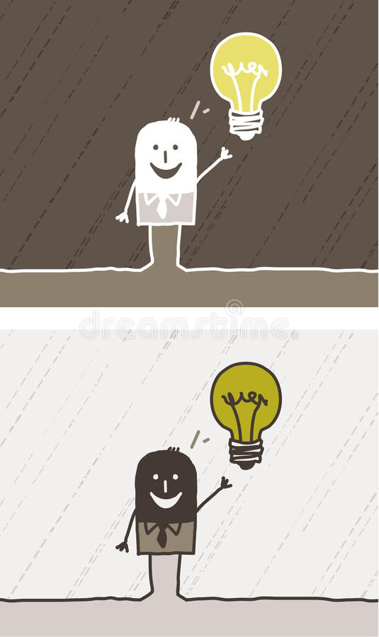 Download Idea colored cartoon stock vector. Image of human, light - 13513555
