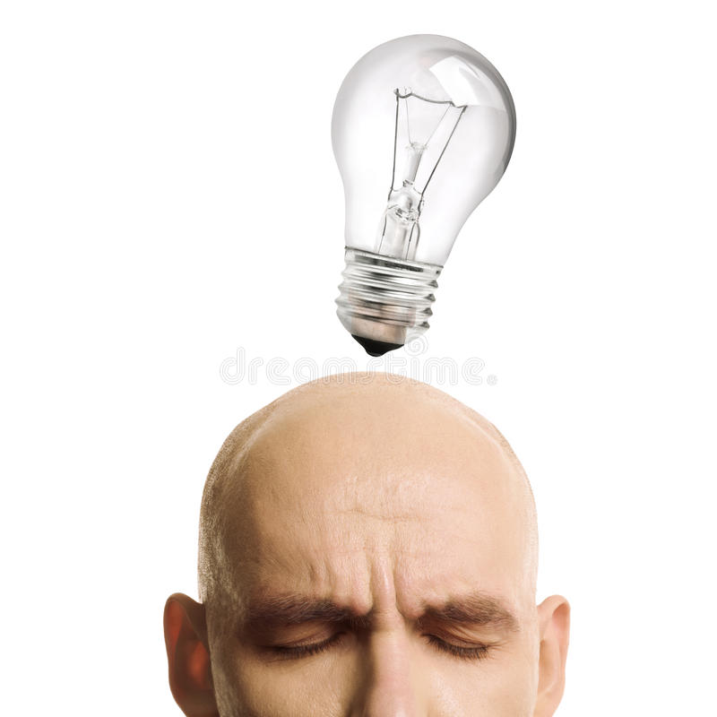 Idea concentration royalty free stock photography