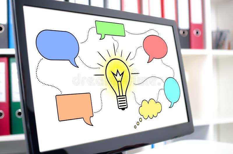 Idea concept on a computer screen. Idea concept shown on a computer screen royalty free stock photos