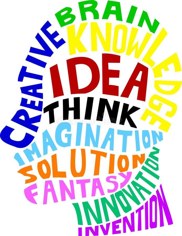Idea concept design. Illustration of Idea concept design royalty free illustration
