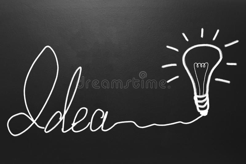 Idea concept drawn on blackboard stock photo