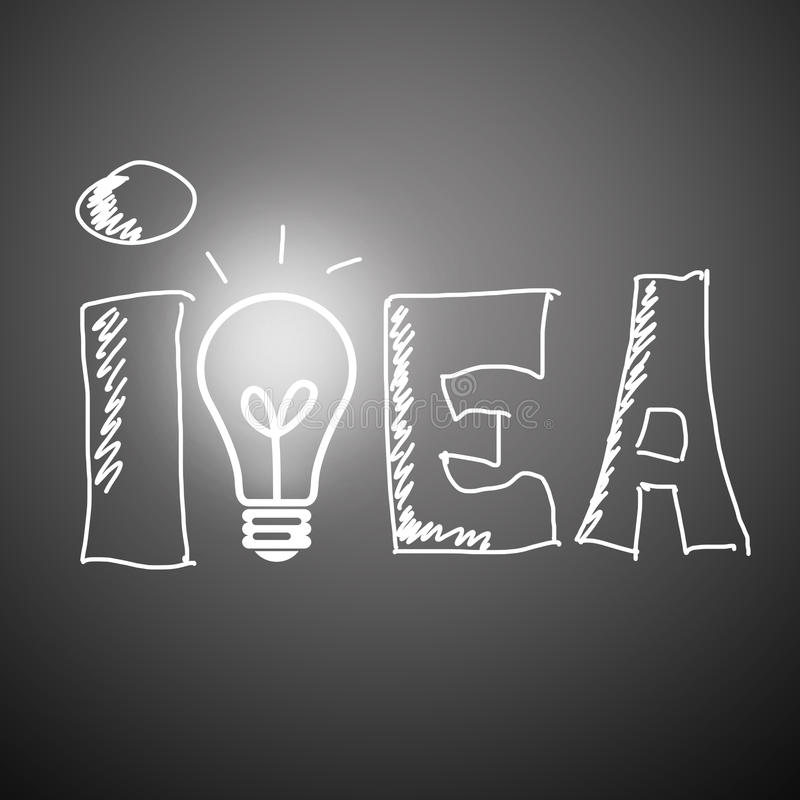 Idea concept on a greybackground stock photo
