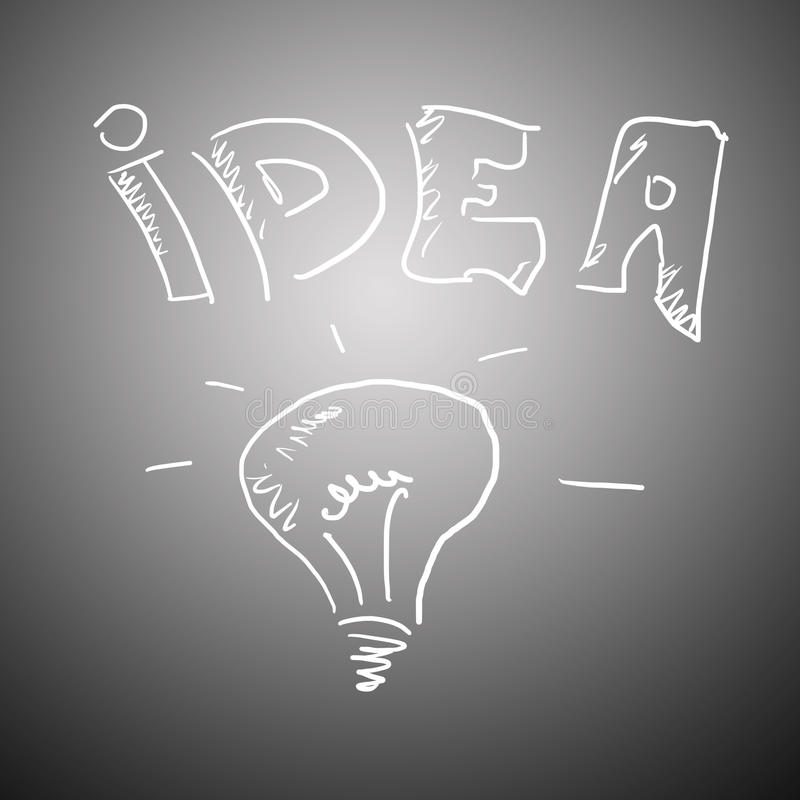 Idea concept on a greybackground stock image