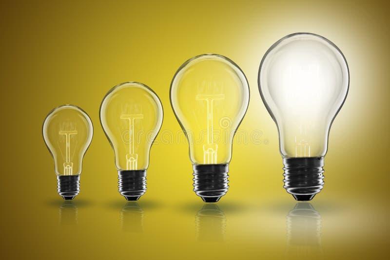 Idea concept - light bulb on the color background. Idea and leadership concept - incandescent light bulb on the color background royalty free stock photos