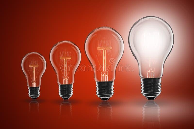 Idea concept - light bulb on the color background. Idea and leadership concept - incandescent light bulb on the color background stock photo