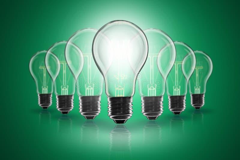 Idea concept - light bulb on the color background. Idea and leadership concept - incandescent light bulb on the color background royalty free stock photography