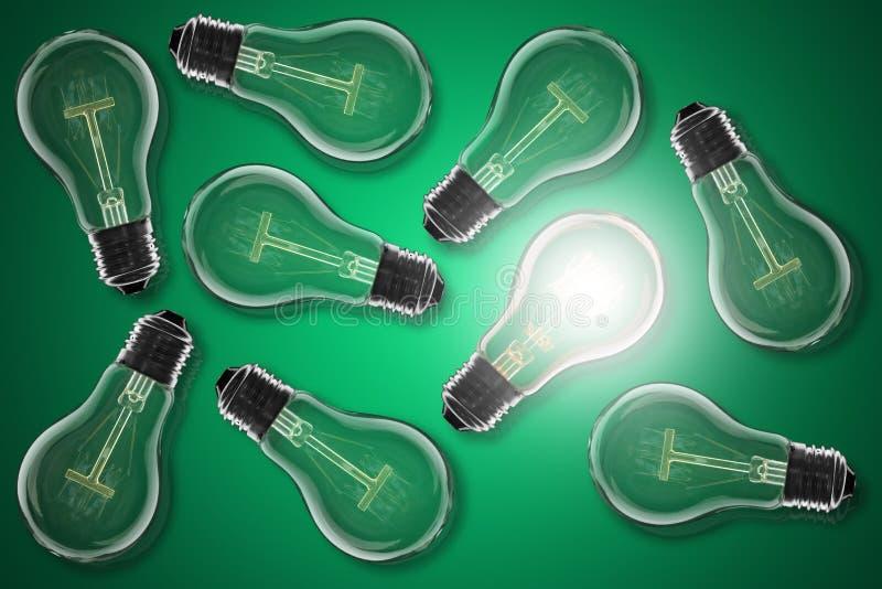 Idea concept - light bulb on the color background. Idea and leadership concept - incandescent light bulb on the color background stock photos