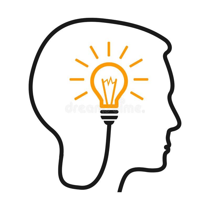 Idea, concepto creativo - para la acción ilustración del vector