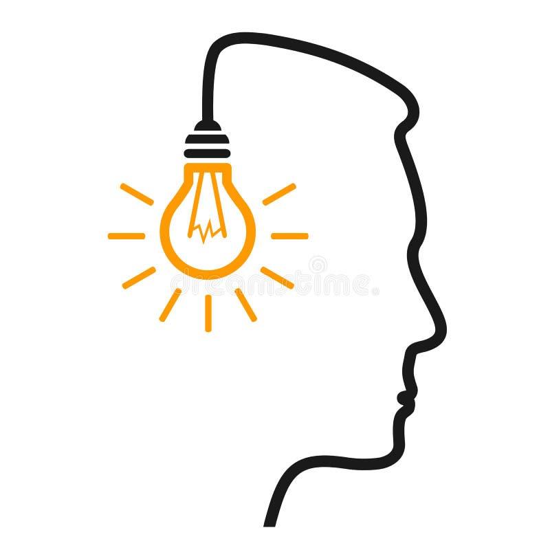 Idea, concepto creativo - vector común stock de ilustración