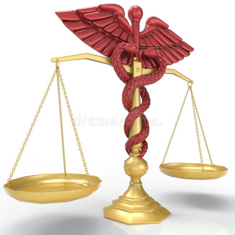 Idea conceptual de la justicia en la representación de la medicina 3d libre illustration