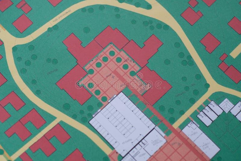 Idea concettuale di progettazione urbana immagini stock libere da diritti