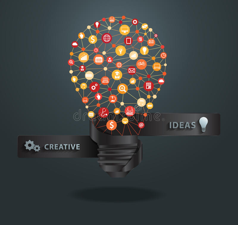 Idea creativa de la bombilla del vector libre illustration