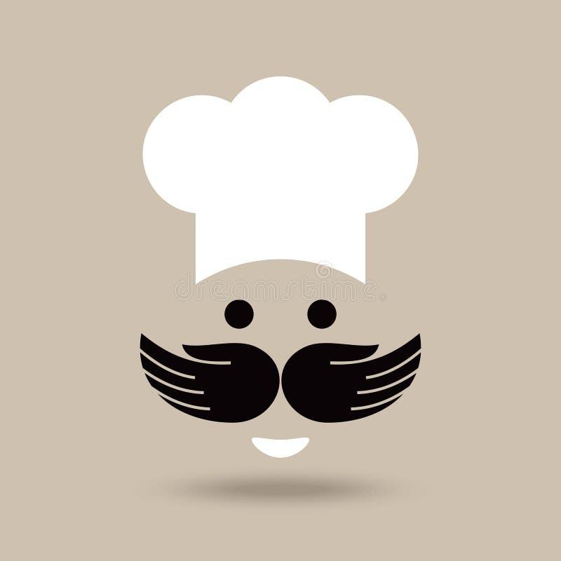 Idea creativa del cocinero con las manos ilustración del vector