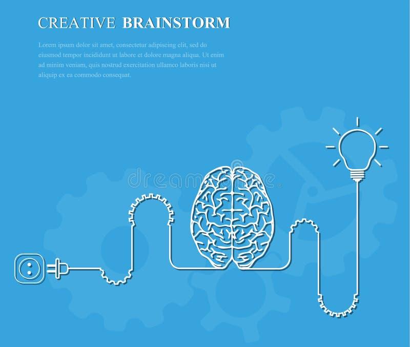 Idea creativa del negocio del concepto del intercambio de ideas ilustración del vector