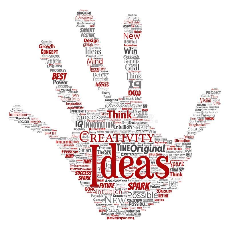 Idea creativa del vector que se inspira la impresión humana de la mano libre illustration