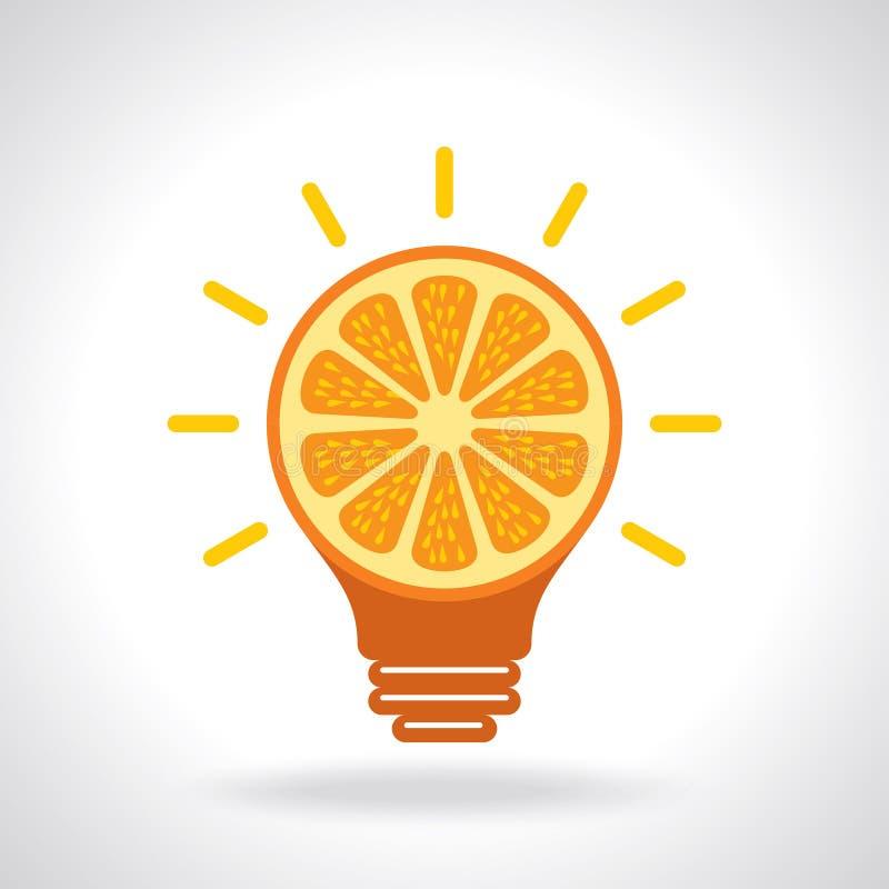 Idea creativa para la salud, icono stock de ilustración