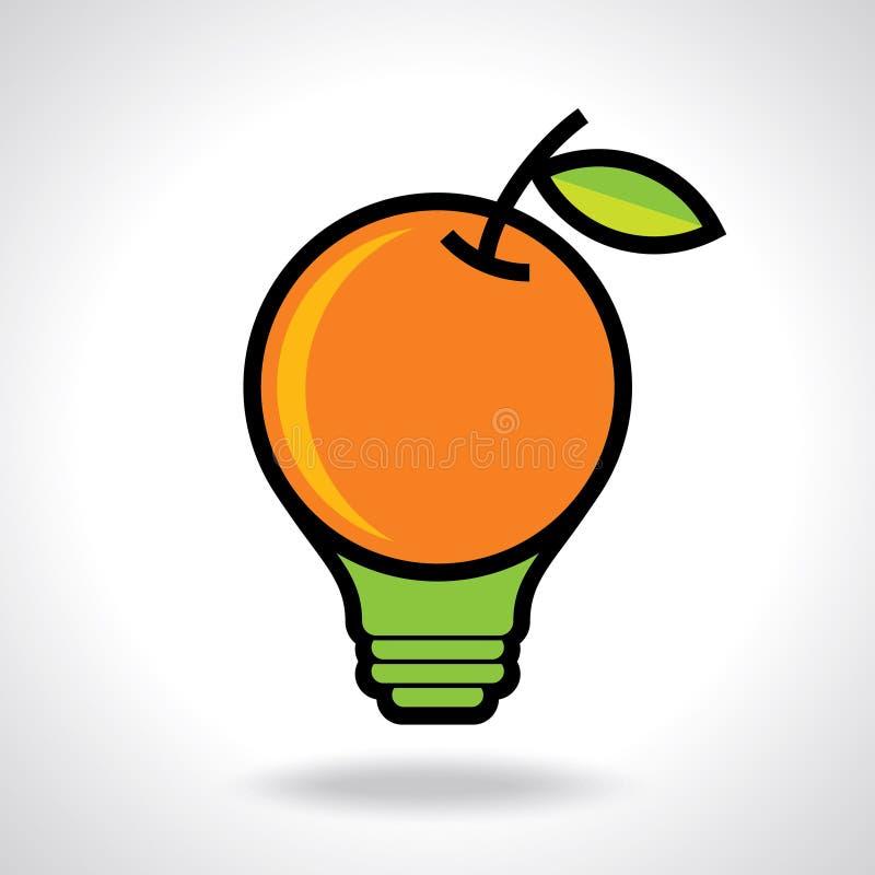 Idea creativa para la salud, icono ilustración del vector