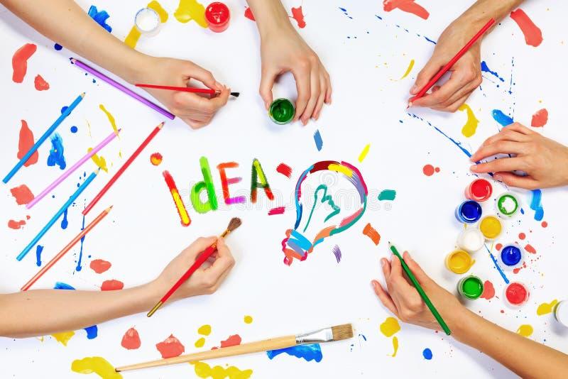 Idea creativa per il vostro affare fotografia stock